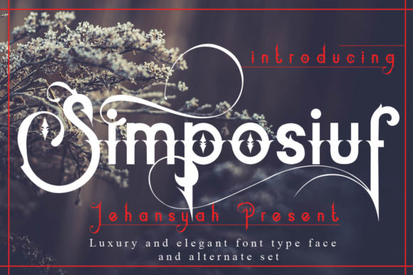 Print on Demand: Simposiuf Display Font By jehansyah251