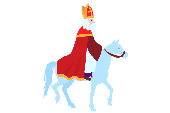 Download Free Sinterklaas On His Horse Svg Cut File By Creative Fabrica Crafts for Cricut Explore, Silhouette and other cutting machines.