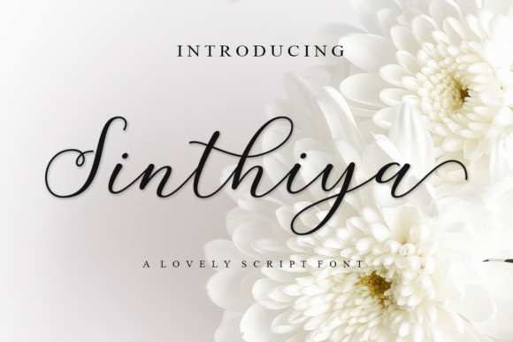 Print on Demand: Sinthiya Script Script & Handwritten Font By supotype