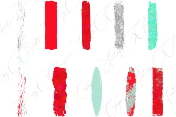 Skarlet Brush Strokes Clipart Graphic By fantasycliparts Image 2
