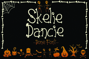 Skelie Dancie Font By dmletter31