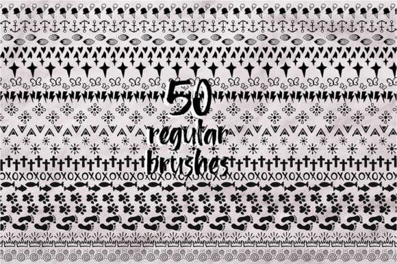 Print on Demand: Sketch Illustrator Brush Set Bundle +100 Elements Graphic Illustrations By arausidp - Image 3
