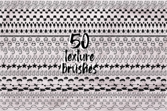 Print on Demand: Sketch Illustrator Brush Set Bundle +100 Elements Graphic Illustrations By arausidp - Image 6