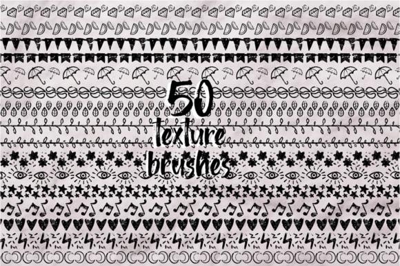 Print on Demand: Sketch Illustrator Brush Set Bundle +100 Elements Graphic Illustrations By arausidp - Image 8