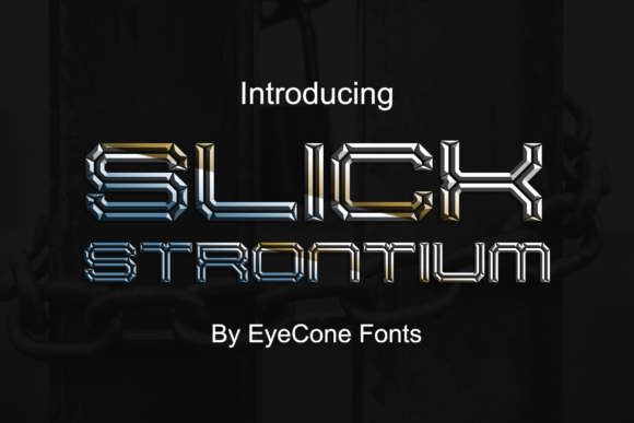 Print on Demand: Slick Strontium Display Font By EyeCone