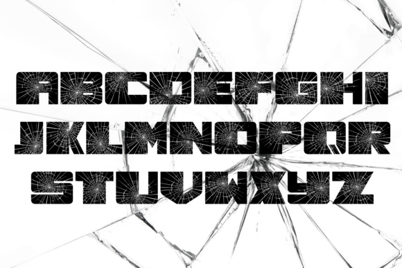 Print on Demand: Smashed Decorative Font By vladimirnikolic - Image 2