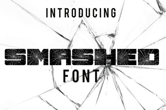 Print on Demand: Smashed Decorative Font By vladimirnikolic - Image 1