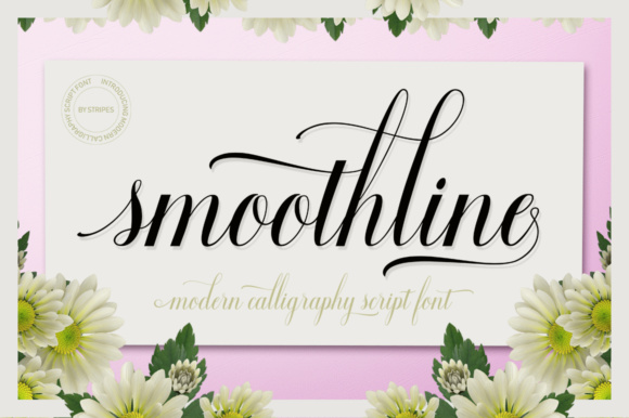 Print on Demand: Smoothline Script Script & Handwritten Font By Stripes Studio - Image 1