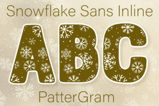 Snowflake Font By Inspire Graphics