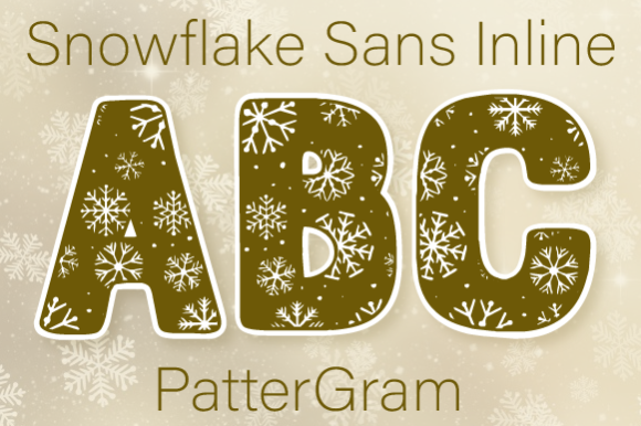 Print on Demand: Snowflake Decorative Font By Inspire Graphics