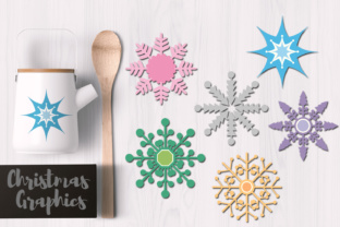 Snowflakes Pastel Graphic By Revidevi