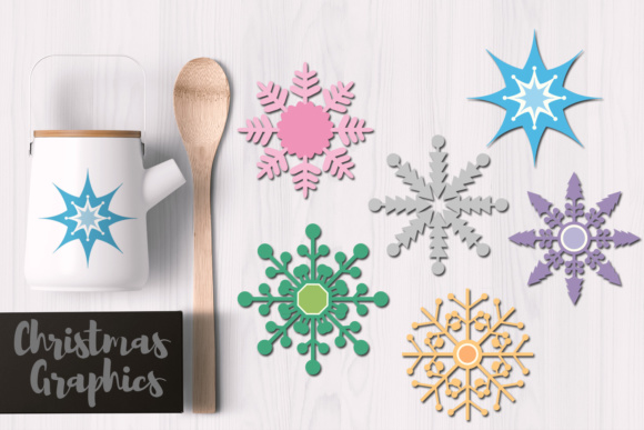 Print on Demand: Snowflakes Pastel Graphic Illustrations By Revidevi