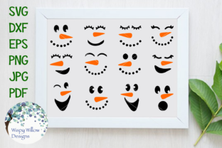 Download Free Snowman Faces Bundle Graphic By Wispywillowdesigns Creative for Cricut Explore, Silhouette and other cutting machines.