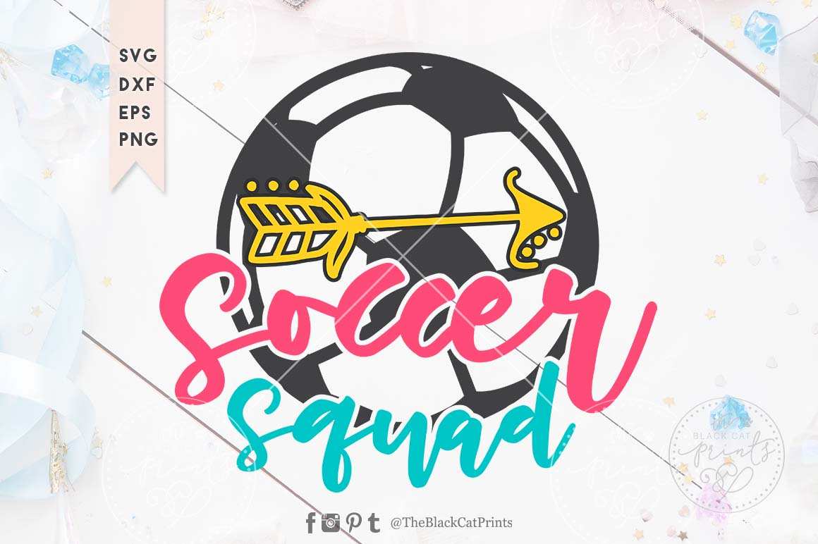Download Free Soccer Squad Svg Graphic By Theblackcatprints Creative Fabrica SVG Cut Files