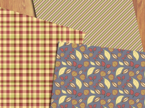 Soft Autumn Digital Papers Graphic By Greenlightideas Creative Fabrica