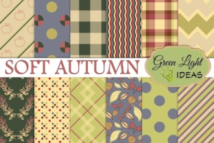 Soft Autumn Digital Papers Graphic By GreenLightIdeas