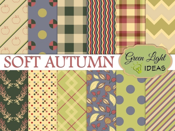 Soft Autumn Digital Papers Graphic Backgrounds By GreenLightIdeas