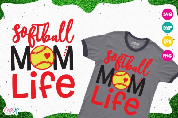 Download Free Softball Mom Life Svg Cut Files For Craftter Graphic By Cute for Cricut Explore, Silhouette and other cutting machines.