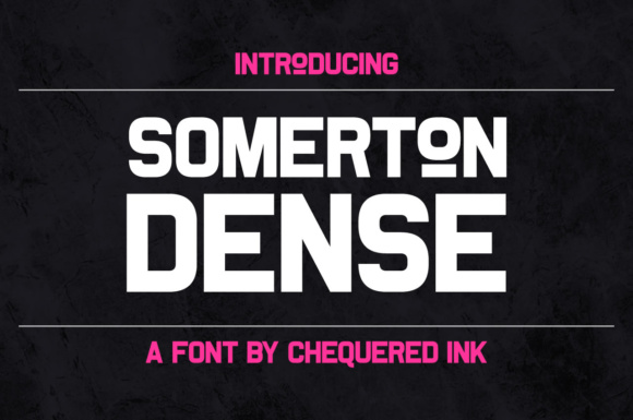 Print on Demand: Somerton Dense Sans Serif Font By Chequered Ink