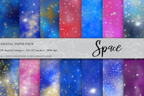 Space, Galaxy, Starry Night Digital Graphic By damlaakderes