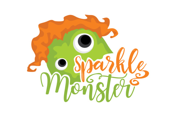 Print on Demand: Sparkles Monster Graphic Crafts By TheLucky