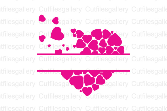 Download Free Split Heart Cut File Graphic By Cutfilesgallery Creative Fabrica for Cricut Explore, Silhouette and other cutting machines.
