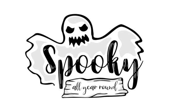 Download Free Spooky All Year Round Graphic By Thelucky Creative Fabrica SVG Cut Files