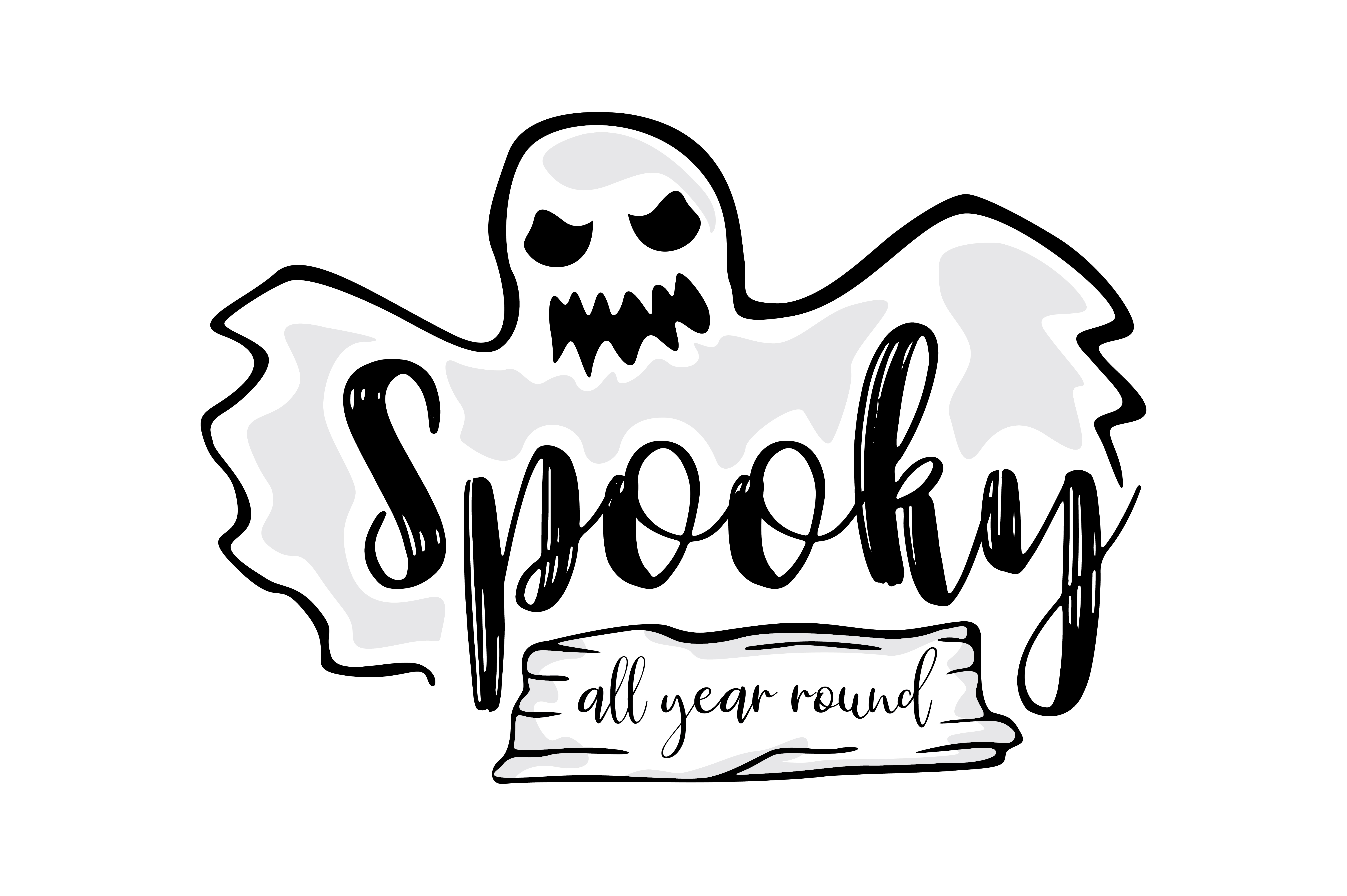 Download Free Spooky All Year Round Graphic By Thelucky Creative Fabrica for Cricut Explore, Silhouette and other cutting machines.