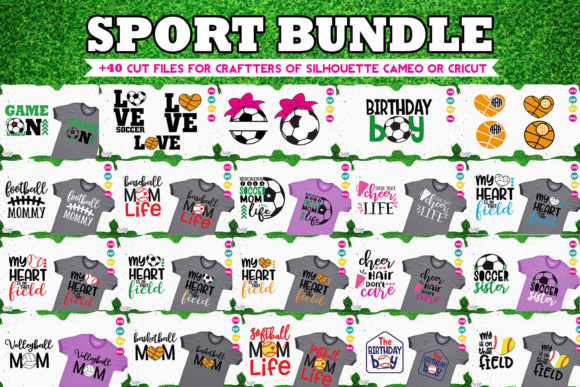 Sport Bundle Cuts Files for Crafters Graphic By Cute files Image 1