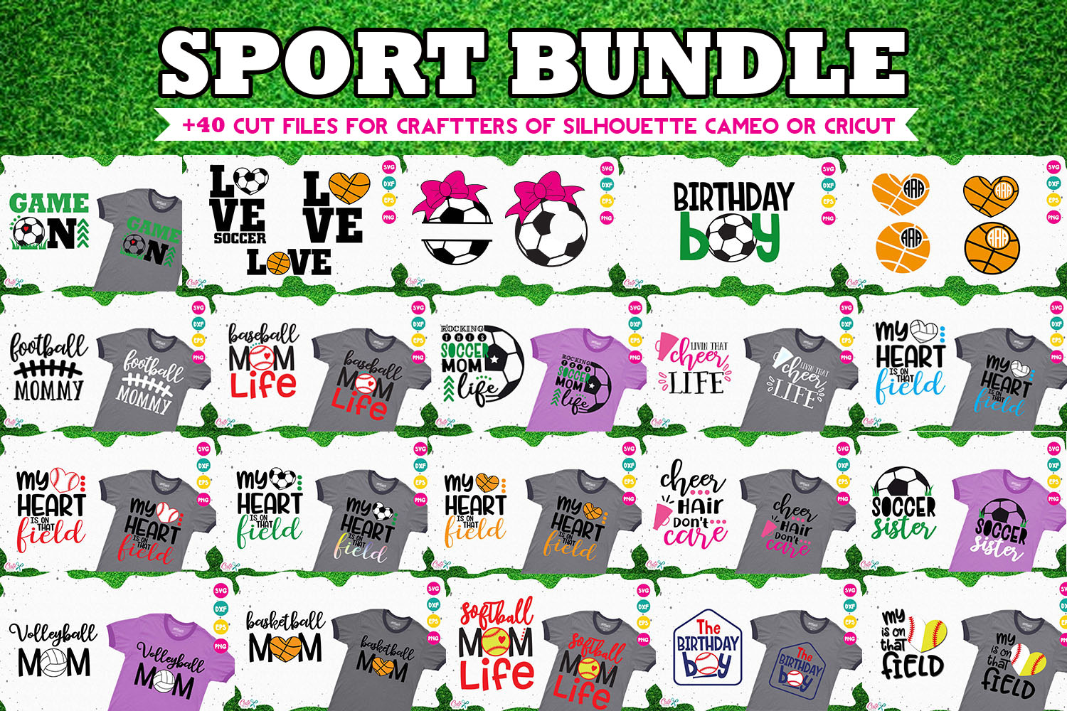 Download Free Sport Bundle For Crafters Grafik Von Cute Files Creative Fabrica for Cricut Explore, Silhouette and other cutting machines.