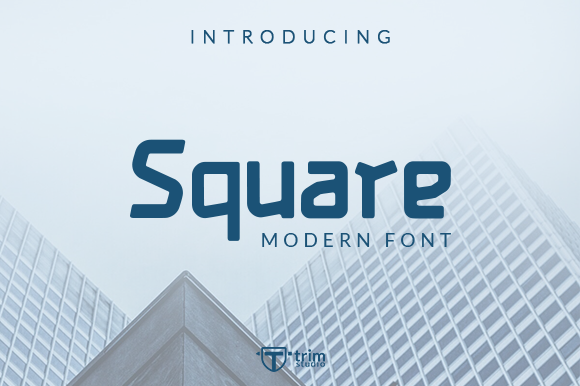 Print on Demand: Square Display Font By Trim Studio - Image 1