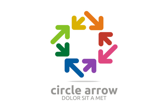 Square Circle Arrow Graphic Logos By Acongraphic