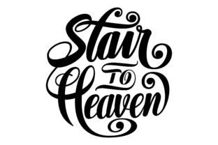 Download Free Stair To Heaven Round Lettering Svg Graphic By Royaltype for Cricut Explore, Silhouette and other cutting machines.