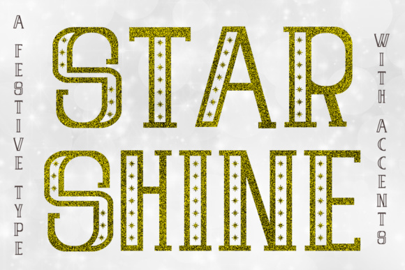 Print on Demand: Star Shine Decorative Font By Illustrator Guru