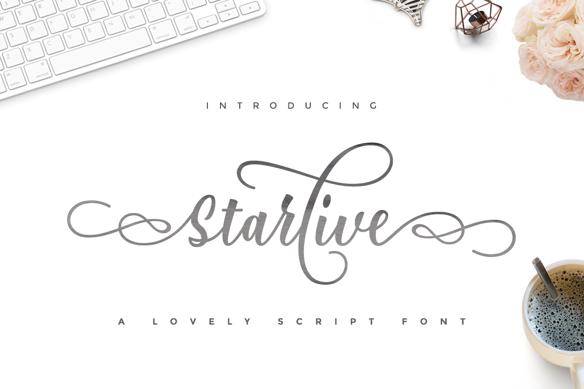 Download Free Starlive Script Font By Cooldesignlab Creative Fabrica for Cricut Explore, Silhouette and other cutting machines.