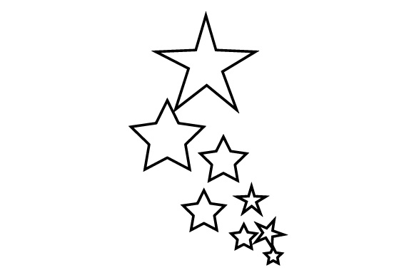 Stars New Year's Craft Cut File By Creative Fabrica Crafts - Image 2