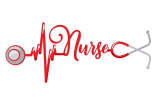 Stethoscope That Creates a Heartbeat and  Nurse Written Medical Craft Cut File By Creative Fabrica Crafts