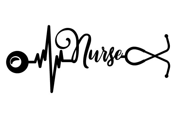Download Free Stethoscope That Creates A Heartbeat And Nurse Written Svg Cut for Cricut Explore, Silhouette and other cutting machines.