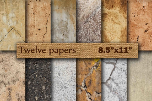 Stone Digital Paper 8.5 Graphic Backgrounds By twelvepapers
