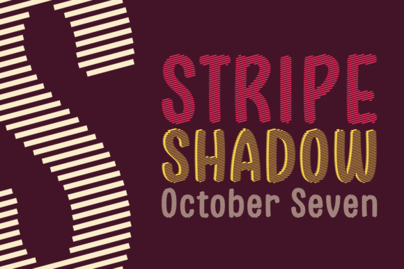 Print on Demand: Stripe Shadow October Seven Display Font By Situjuh