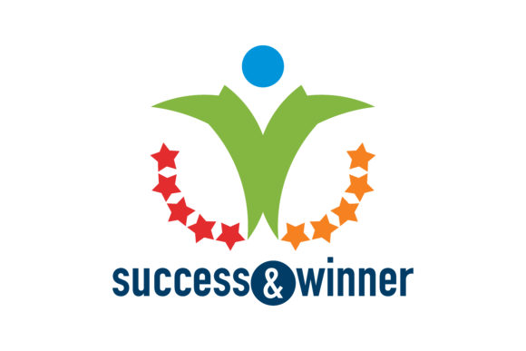 Download Free Success Winner Logo Graphic By Thehero Creative Fabrica for Cricut Explore, Silhouette and other cutting machines.