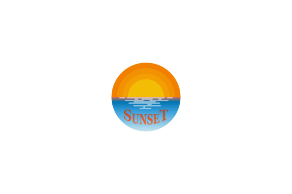 Download Free Sunset Logo Design Graphic By Sabavector Creative Fabrica for Cricut Explore, Silhouette and other cutting machines.
