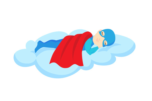 Download Free Superhero Napping On A Cloud Svg Cut File By Creative Fabrica for Cricut Explore, Silhouette and other cutting machines.