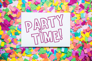 Print on Demand: Surprise Party Family Display Font By Anastasia Feya 3