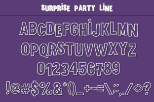 Print on Demand: Surprise Party Family Display Font By Anastasia Feya 5