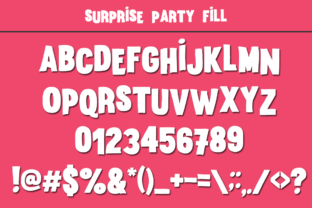 Print on Demand: Surprise Party Family Display Font By Anastasia Feya 6