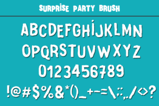 Print on Demand: Surprise Party Family Display Font By Anastasia Feya 7