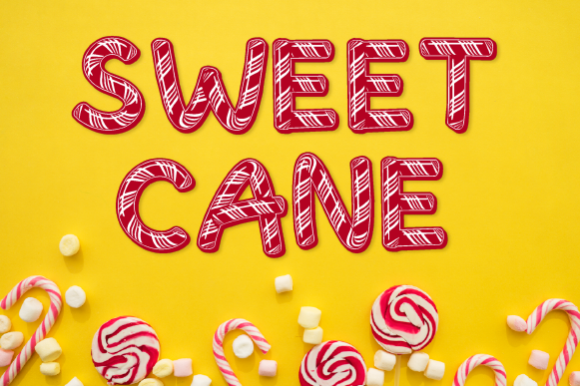 Download Free Sweet Cane Font By Inspire Graphics Creative Fabrica for Cricut Explore, Silhouette and other cutting machines.