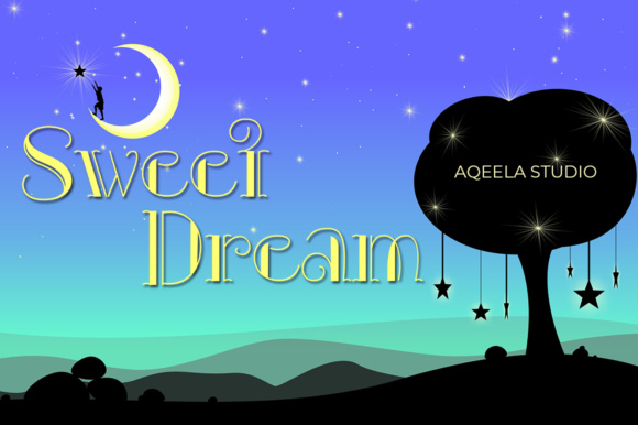 Print on Demand: Sweet Dream Script & Handwritten Font By Aqeela Studio