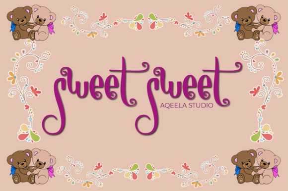 Print on Demand: Sweet Sweet Manuscrita Fuente Por Aqeela Studio